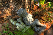 Tombstone Photos - Fallen Angel by Joetta West