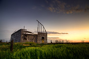 Plains Metal Prints - Fallen Barn Metal Print by Thomas Zimmerman