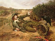 Homeless Painting Posters - Fallen by the Wayside Poster by Edgar Bundy