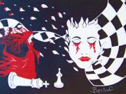 Chess Queen Painting Posters - Fallen King Poster by Robert Hofmann