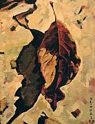 Abstract Realist Landscape Art - Fallen Leaf by Tim  Heimdal