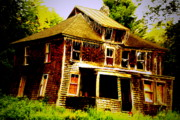 Old Houses Photos - Falling Down by Emily Stauring