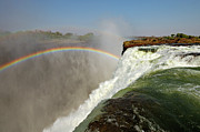 Zambia Waterfall Metal Prints - Falling Down  Falls, Zambia Metal Print by © Pascal Boegli