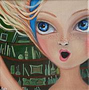 Alice In Wonderland Painting Originals - Falling Down the Rabbit Hole by Jaz by Jaz Higgins