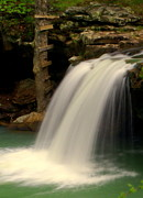 Arkansas Photo Posters - Falling Falls Poster by Marty Koch