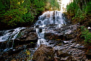 New Hampshire Pyrography Posters - Falling for waterfall Poster by Gloria Warren