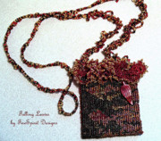 Red Jewelry - Falling Leaves by Patricia Griffin Brett