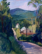 Abstract Realist Landscape Posters - Falling Light Berkshires Poster by Thor Wickstrom
