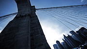Gehry Framed Prints - Falling Lines - Brooklyn Bridge Framed Print by Thomas Splietker