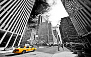 New York City Skyline Photos - Falling Lines - Rockefeller Center by Thomas Splietker