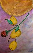 Stein Paintings - Falling Pears by Carla Stein