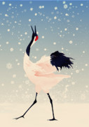 Snow Digital Art - Falling Snow by CarrieAnn Reda
