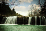 Arkansas Photo Posters - Falling Water Falls in Spring Poster by Iris Greenwell