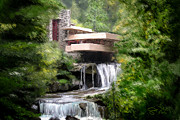 Scott Melby Framed Prints - Falling Water Framed Print by Scott Melby