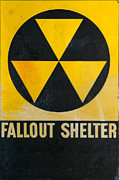 Emergency Framed Prints - Fallout Shelter Framed Print by Olivier Le Queinec