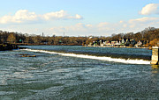 Boathouse Row Photos - Falls at Boathouse Row by Addie Hocynec