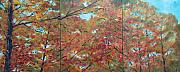 Fall Panorama Paintings - Falls Back III by Pete Maier