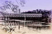 Philadelphia Digital Art Metal Prints - Falls Bridge Metal Print by Bill Cannon