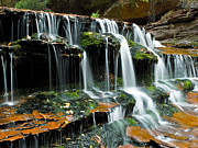 Moss Green Photo Framed Prints - Falls into Place Framed Print by Jim Speth