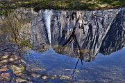 Yosemite Falls Metal Prints - Falls pool reflection Metal Print by Garry Gay