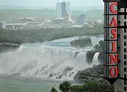 Niagara Painting Framed Prints - Falls View Framed Print by Kenneth M  Kirsch
