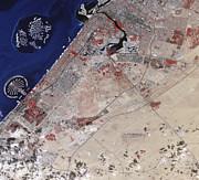 False-color Image Of Part Of Dubai Print by Stocktrek Images