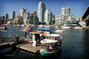 Burrard Inlet Prints - False Creek in Vancouver Print by Tom Buchanan