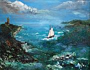 Rough Waters Prints - False Harbor Print by Patricia Motley