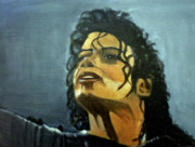 Michael Jackson Portrait Painting Originals - Fame by Ann Mary Bougatsos