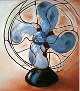 Electric Fan Posters - Familiar Breeze Poster by Debbie Weibler