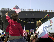 Operation Iraqi Freedom Posters - Family And Friends Wait To Welcome Home Poster by Stocktrek Images