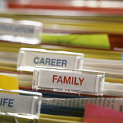 Labelling Posters - Family Before Career Poster by Tek Image