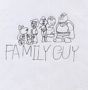 Autistic Prints - Family Guy Pencil Sketch Print by Vincent Gitto