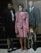 Black History Paintings - Family II by Angelo Thomas