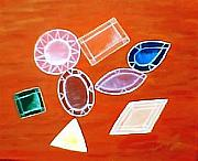 Jewel Tone Paintings - Family Jewels by Ginger Strivelli