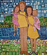 Nephew Prints - Family of 4 Print by Donna Howard