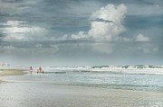 Beach House Digital Art Originals - Family on Romar Beach by Michael Thomas