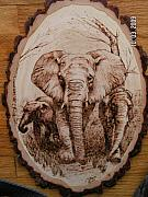 Pet Portraits Pyrography - Family outing by John Tatham
