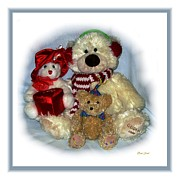 Children And Bear Framed Prints - Family Portrait Framed Print by Dale   Ford