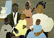 Front Porch Mixed Media Prints - Family Portrait Print by Martha Rucker
