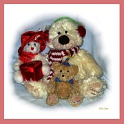 Toys Digital Art - Family Portrait pink border by Dale   Ford