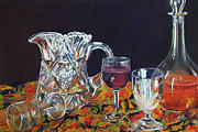 Wine Glass Pastels - Family Ties by Marie-Claire Dole