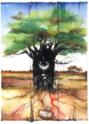 Tree Roots Mixed Media Metal Prints - Family Tree Metal Print by Anthony Burks