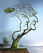 Family Tree, Conceptual Artwork Print by Smetek