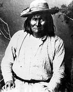 1880s Framed Prints - Famous Apache Leader, Geronimo Framed Print by Everett