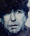 Leonard Cohen Paintings - Famous Blue raincoat by Paul Lovering