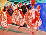Sequin Painting Prints - Famous French Cancan Print by Stanley Morganstein