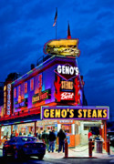 South Philly Prints - Famous Genos Steaks Print by John Greim