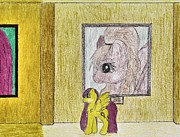 My Little Pony Drawings - Famous Hall by April McCallum