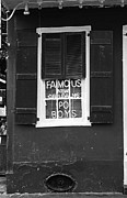 Window Signs Art - Famous New Orleans PO BOYS Neon Window Sign Black and White Accented Edges Digital Art by Shawn OBrien